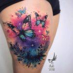 Butterflies Tattoo on Thigh