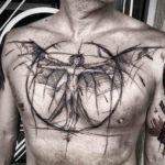 Chest Tattoo Angel Man