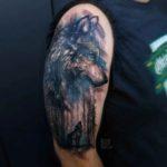 Forest Woolf Tattoo on Shoulder