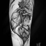 Rooster Tattoo on Arm