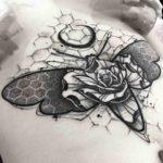 Rose Moth Tattoo