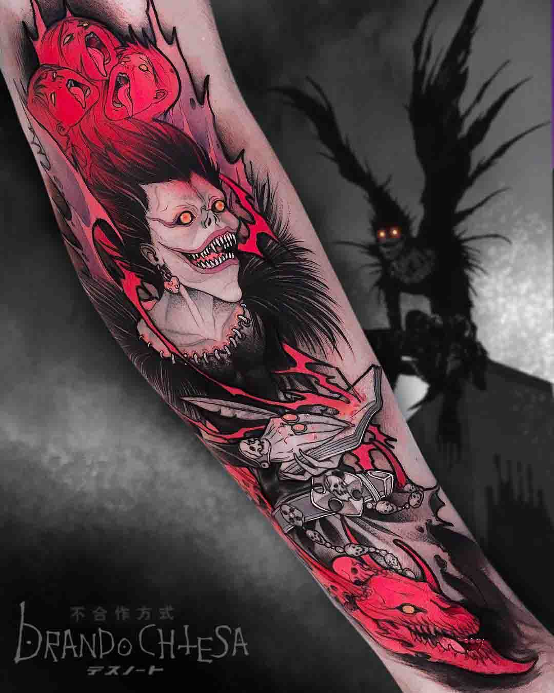 death note tattoo ryuk revenge