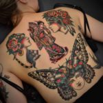 Several Traditional Tattoos on Back