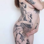 Two Dancing Swans Tattoo