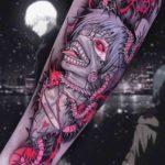 Ken Kaneki Art Tattoo