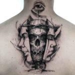 Skull Twin Face Tattoo