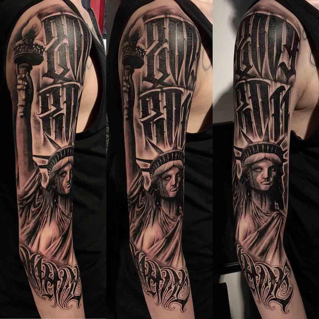 chicano tattoo statue of liberty