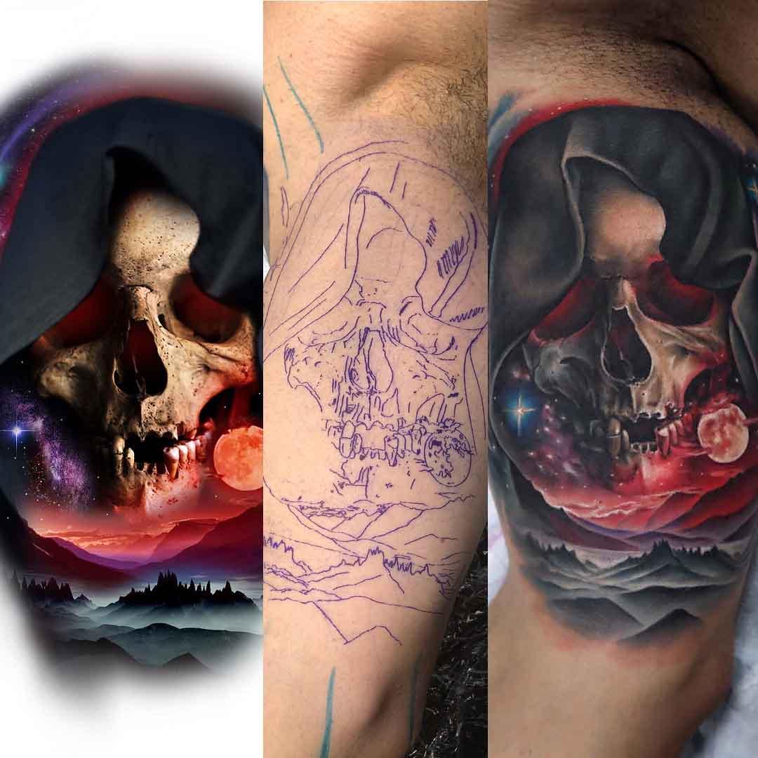 death skull tattoo