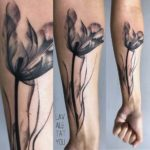 Black Tulip Tattoo