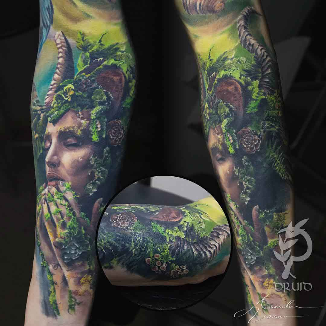 nature tattoo portrait