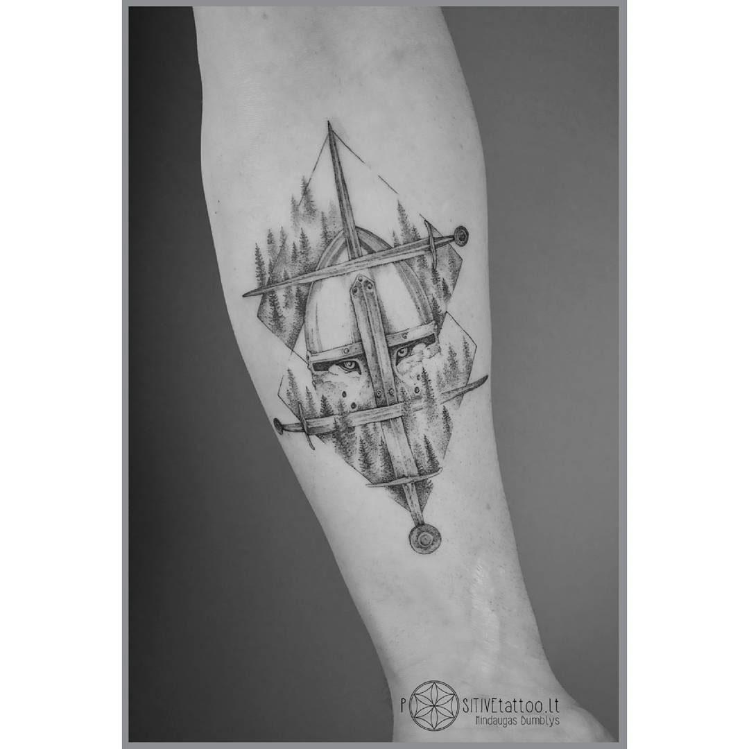 forearm tattoo knight