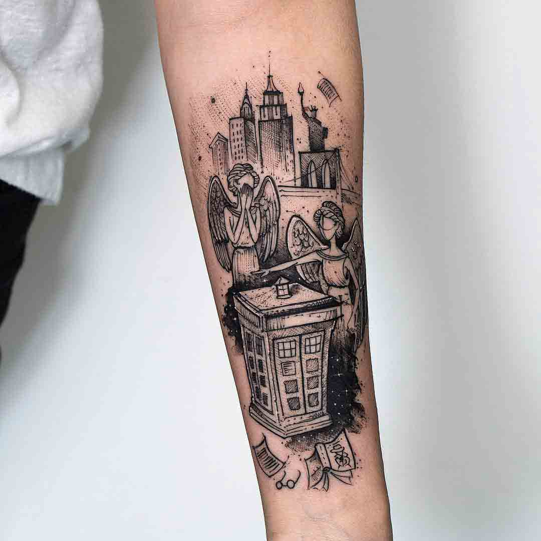 doctor who tattoo weeping angels