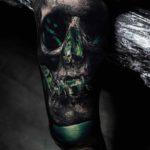 Green Lantern Tattoo Skull