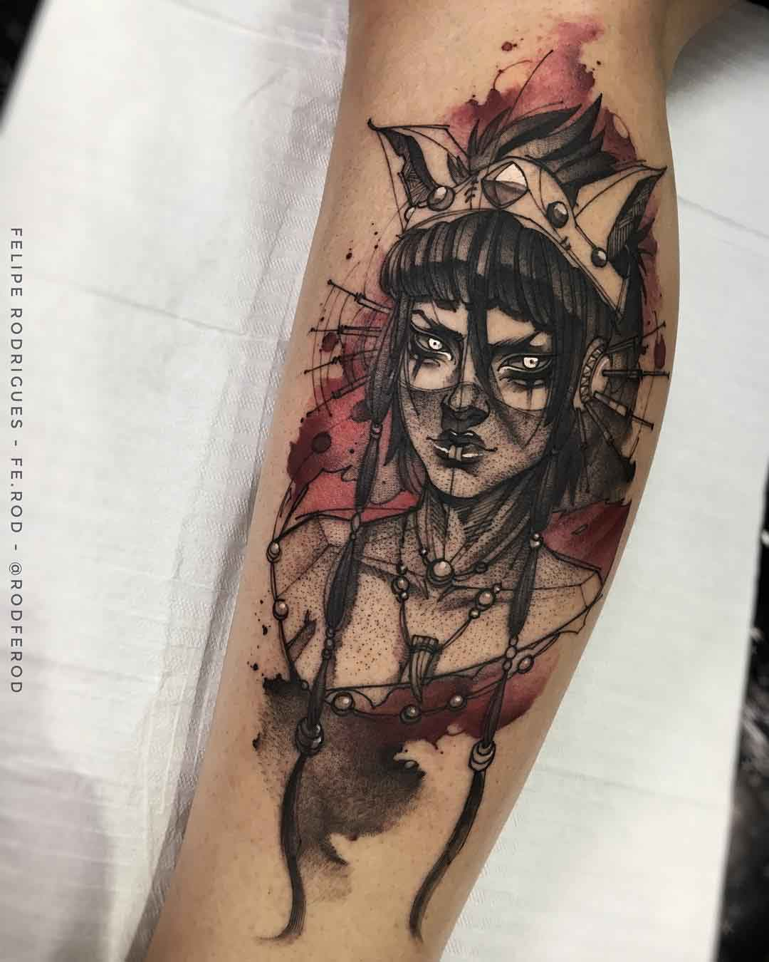 watercolor tattoo Kai Heavenly Sword