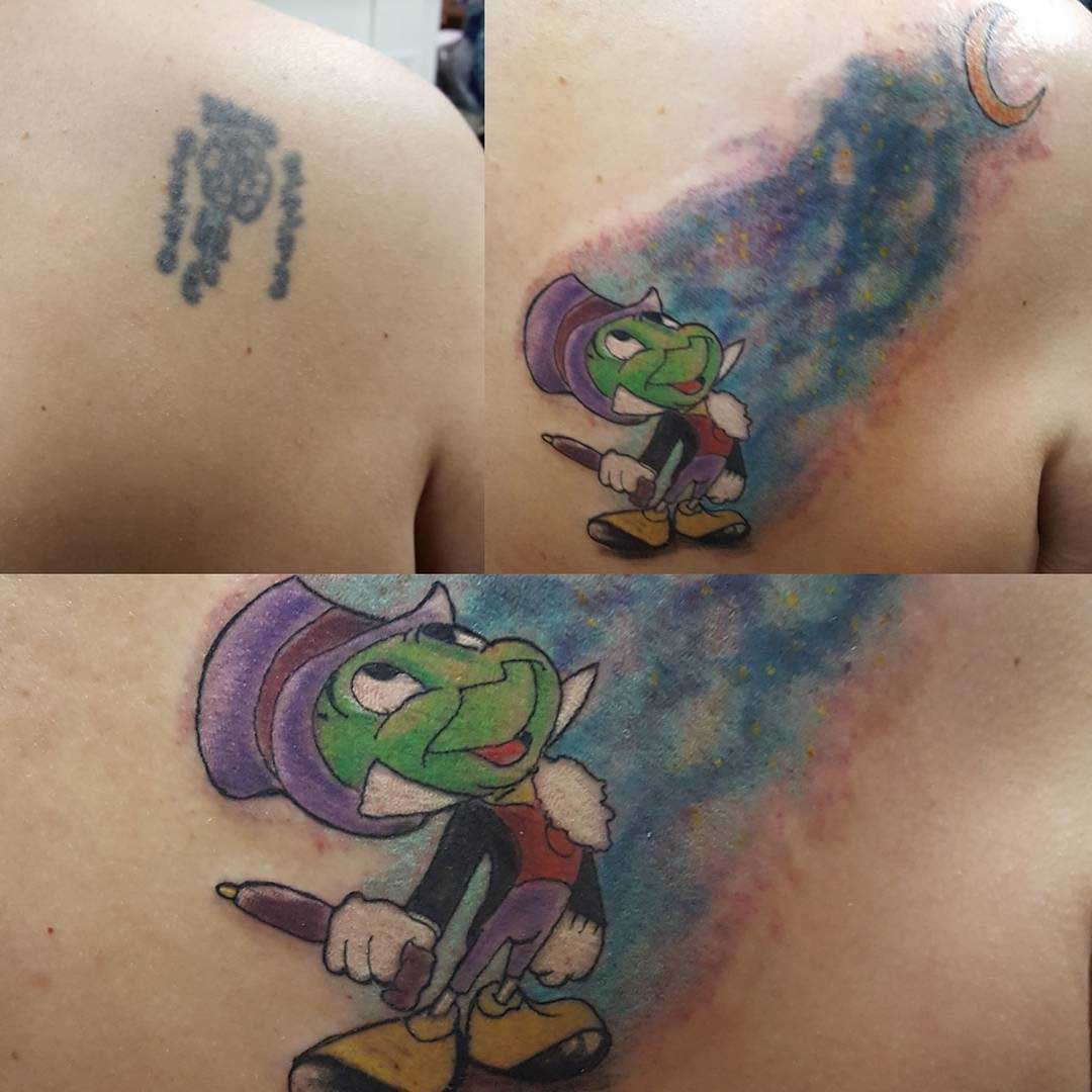 cover up tattoo pinocchio