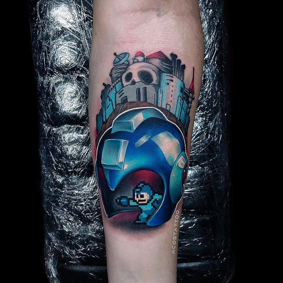 arm tattoo megaman