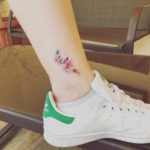 Small Flowers Tattoo on Ankle