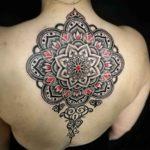 Upper Back Mandala Tattoo Dotwork