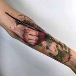 Watercolor Artistic Tattoo