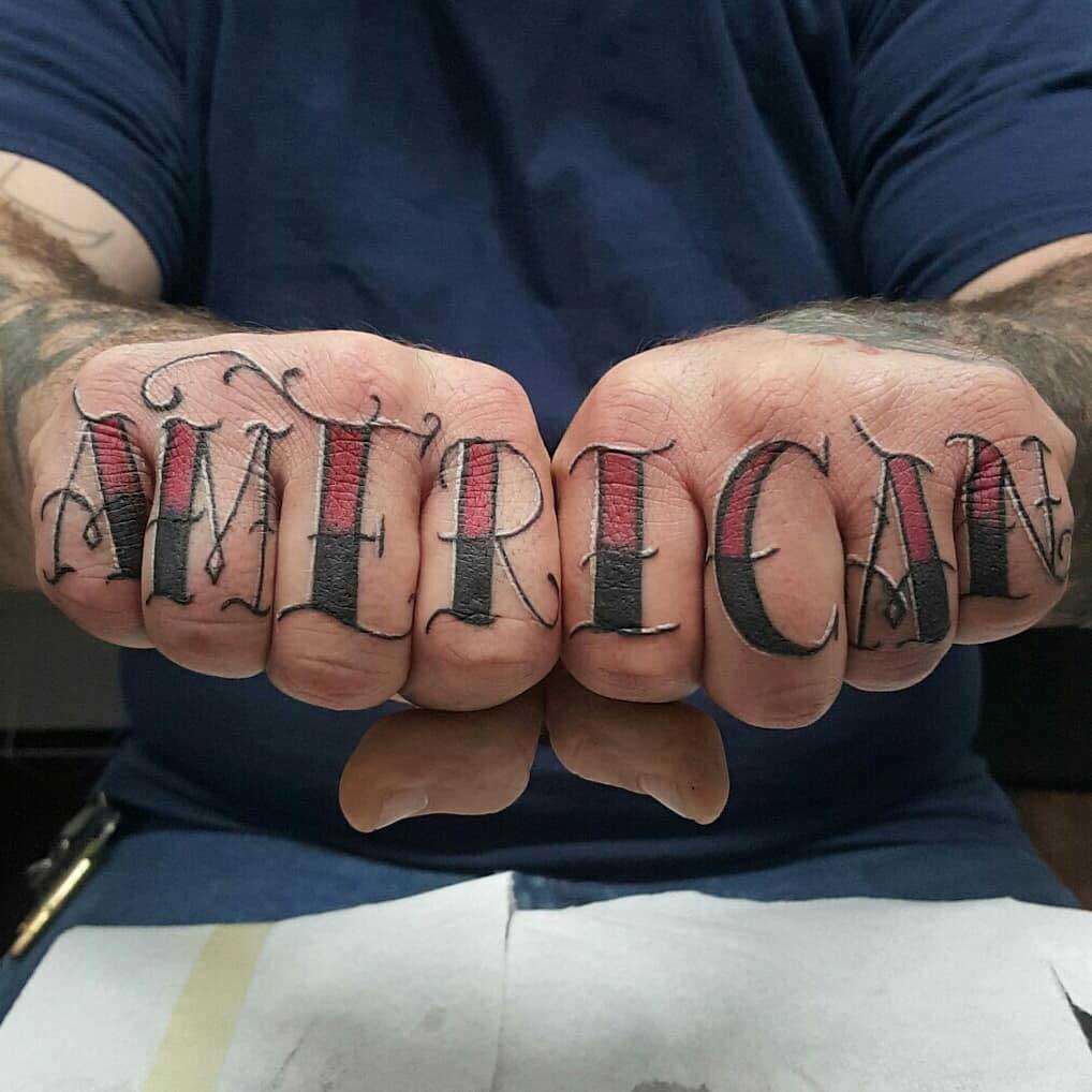 tattoo on fingers American