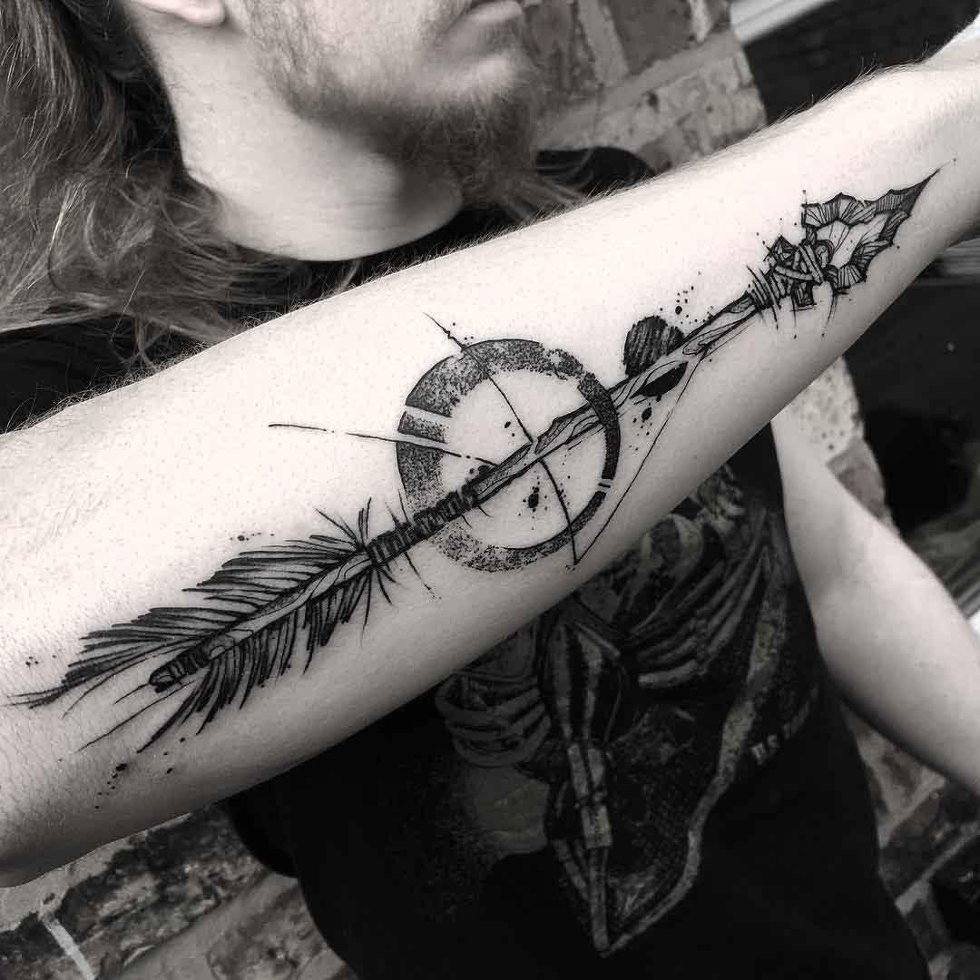 forearm tattoo arrow