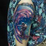 Astro Surfer Tattoo