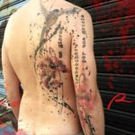 Half Back Trash Polka Tattoo