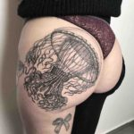Jellyfish Tattoo on Hip