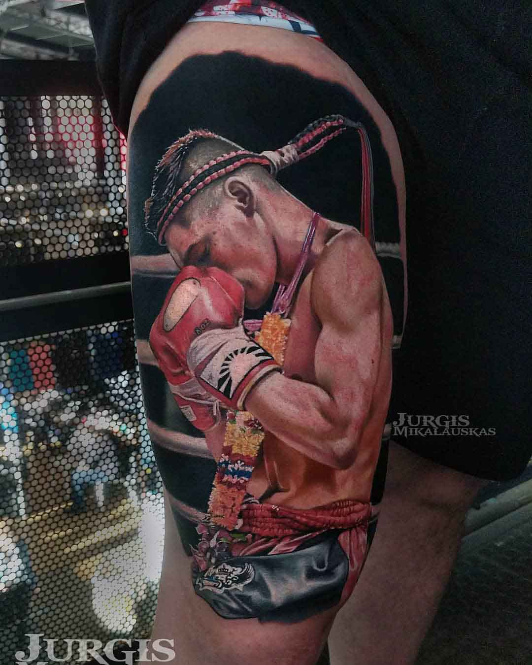 realistic tattoo muay thai tattoo
