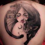 Black Cat Girl Tattoo