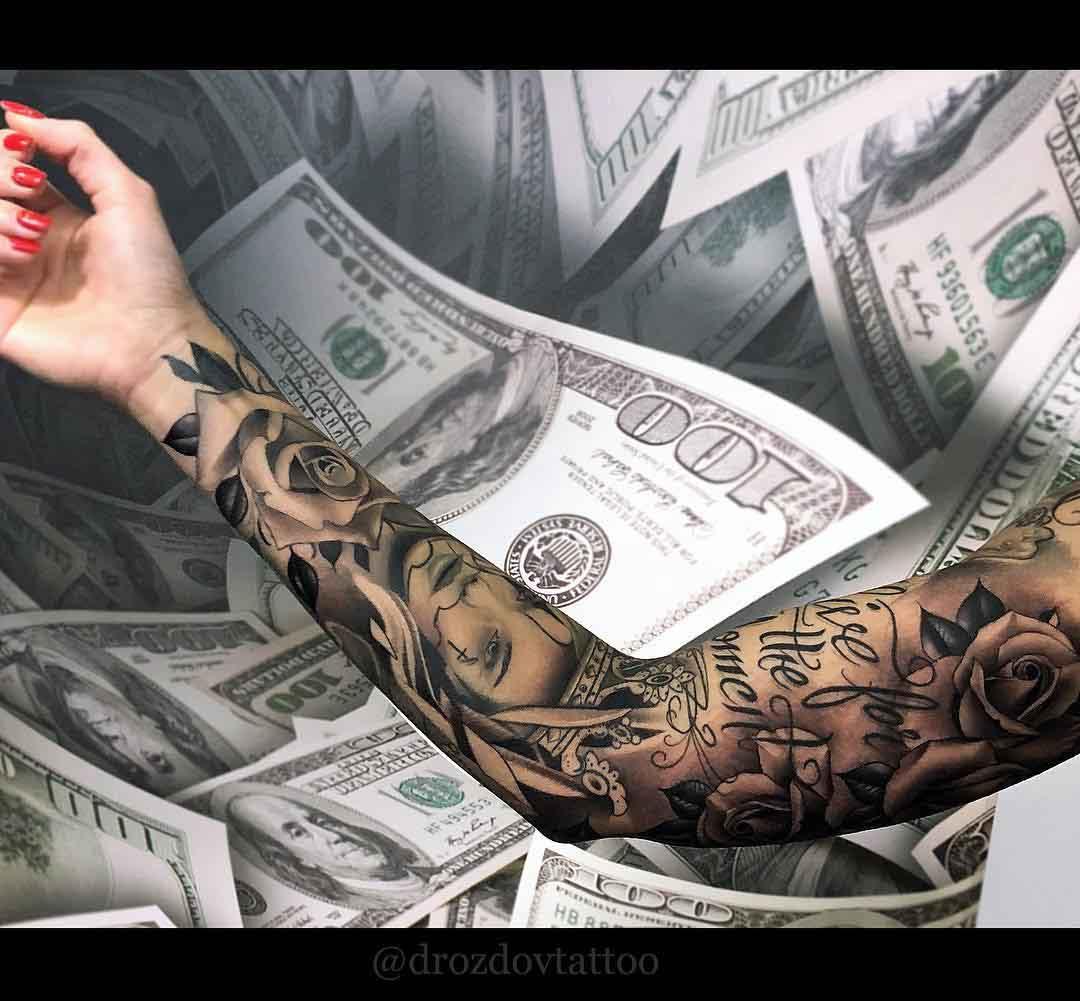 chicano style full tattoo sleeve
