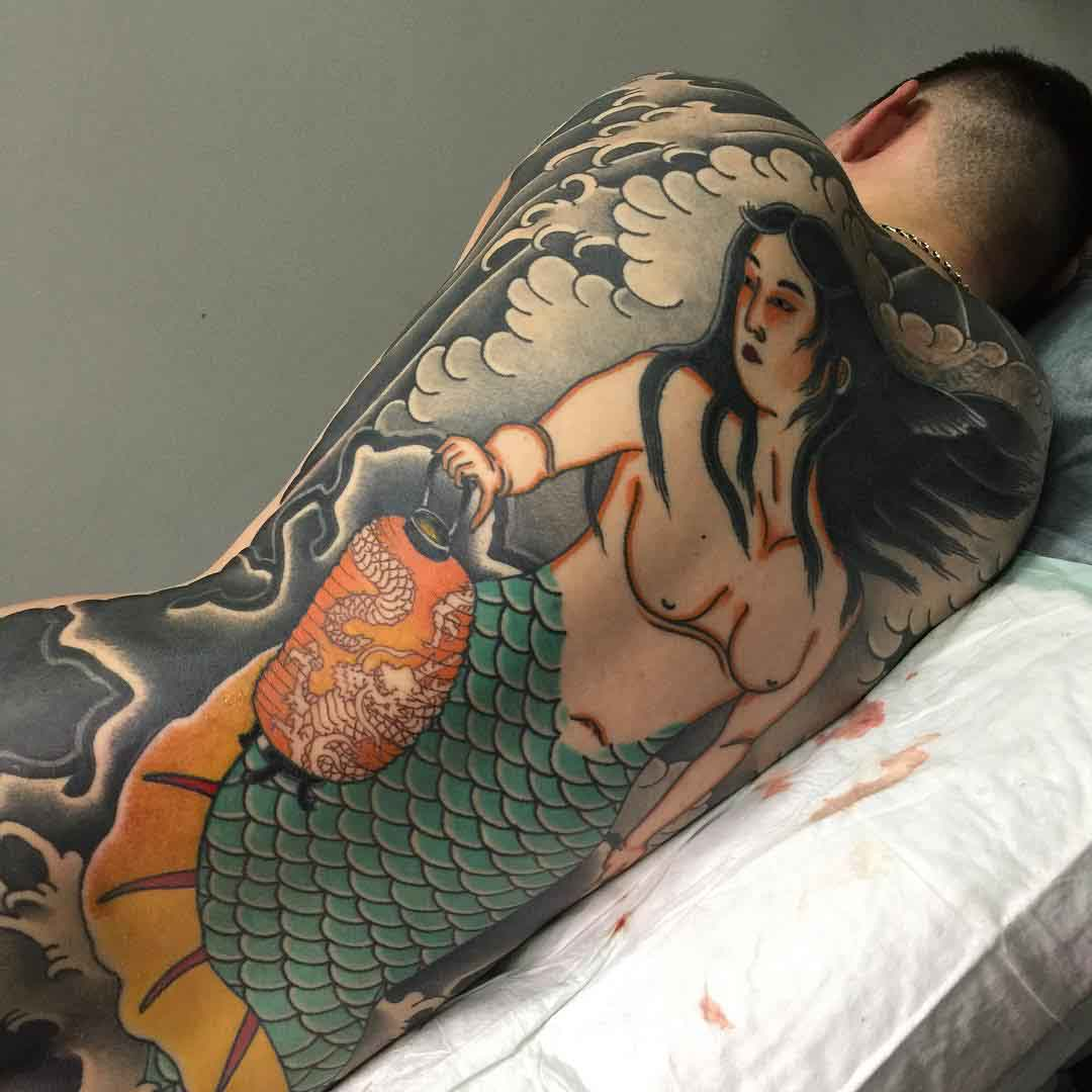mermaid tattoo japanese style