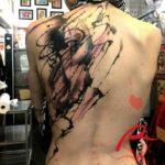 Paint Splash Tattoo on Back