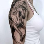 Shoulder Tattoo Horse