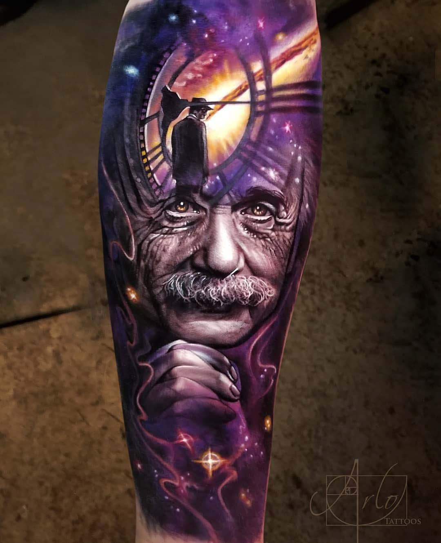 Relativity tattoo Albert Einstein