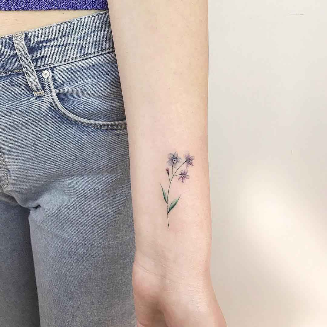 flower tattoo forget-me-not
