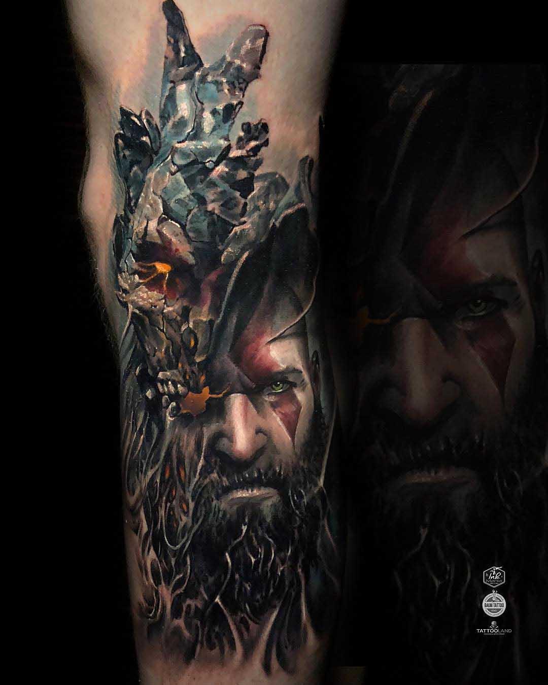 God Of War Tattoo Realistic Best Tattoo Ideas Gallery