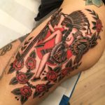Indian Dancer Tattoo Traditional