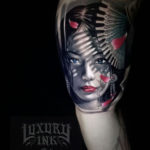 Japanese Girl Tattoo Portrait