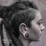 Polygonal Ear Tattoo