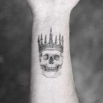 Skull in Crown Tattoo