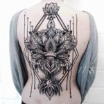 Dotwork Lily Tattoo on Back