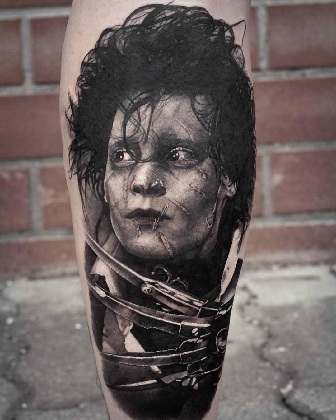 Jhonny Depp tattoo Edward