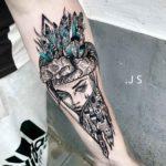 Girl Castle Tattoo on Arm
