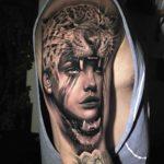 Girl in Jaguar Skin Tattoo