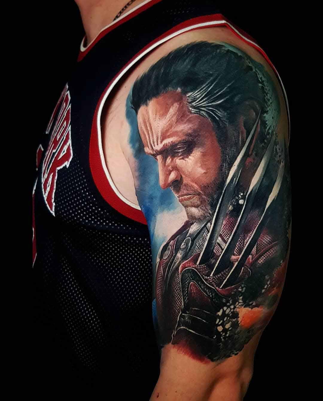 shoulder tattoo Wolverine Marvel