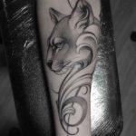 Dotwork Cougar Tattoo