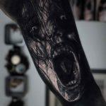 Dark Evil Spirit Tattoo