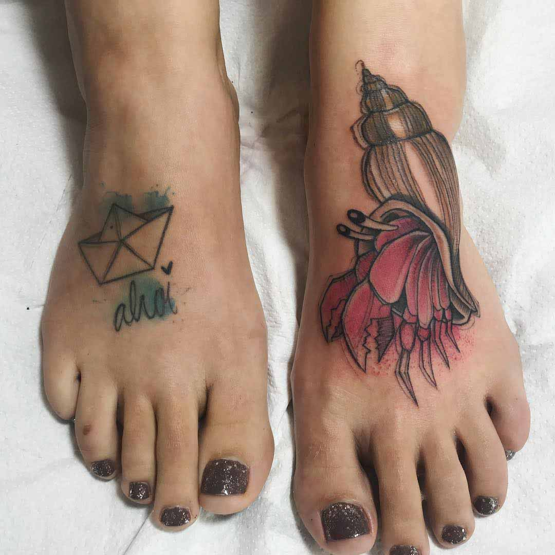 sea foot tattoos