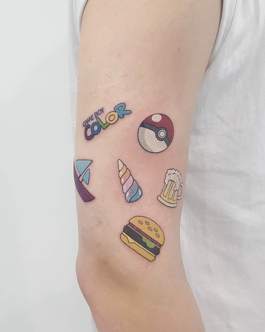 small tattoos on arm gameboy